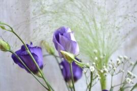 bouquet dans les tons violet