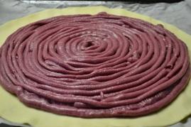 garnissage en spirale de la galette