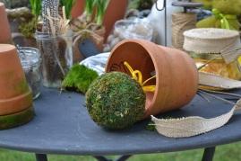 fixation boule de mousse dans pot