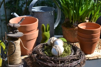 Couronne en nid de Pâques