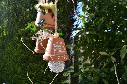 cloches dans le jardin