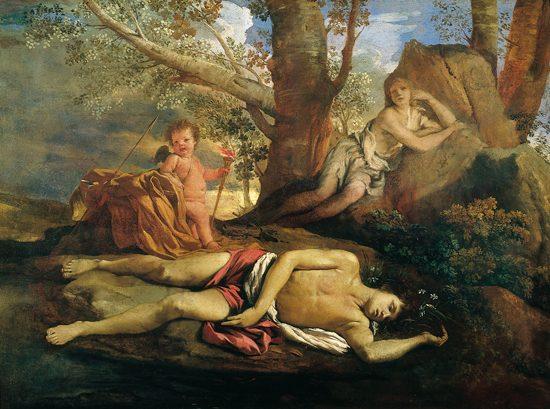 Nicola Poussin Echo et Narcisse