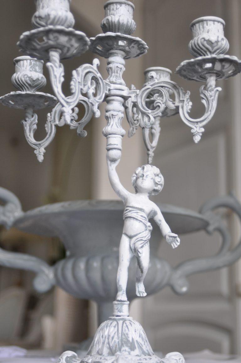 chandelier patiné achevé