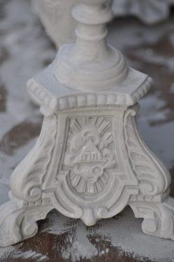 détails patine du pique cierge