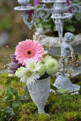 vase mousse fleurs