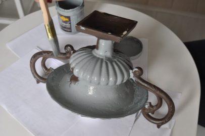 vase rouillé patine gris gustavien