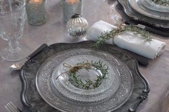 assiette et couronne romarin