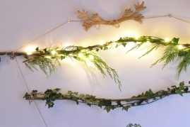 guirlande et lumière de Noël