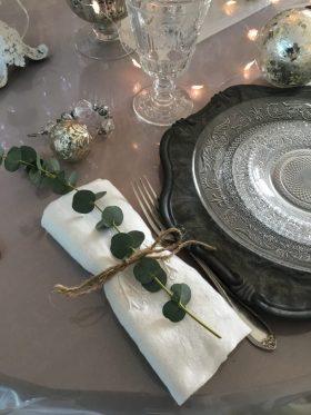 assiettes et serviettes