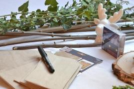 sachets du calendrier de l'avent et caligraphy