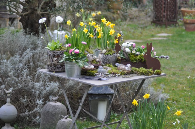 Tables Printanières Ou Pascales Des Pensées Au Jardin
