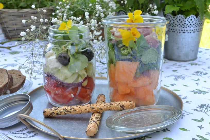 salade jar transparence
