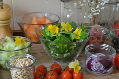 ingrédients de la salade Jar