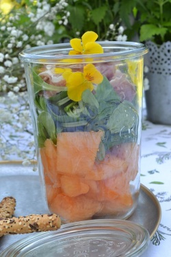 lunch jar melon jambon