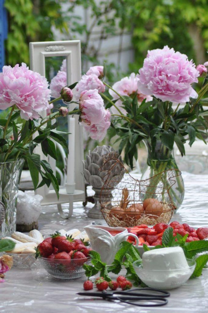ingrédients fraises, mascarpone...