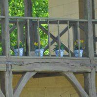 pots de fleurs au hameau