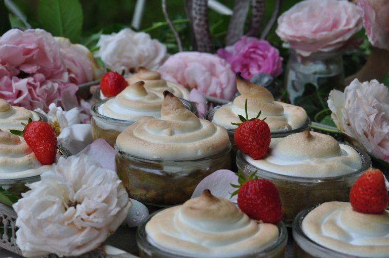 Rhubarbes meringuées Antoinette