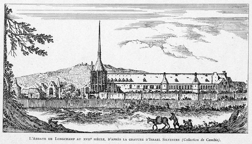 gravue de l'abbaye de longchamp