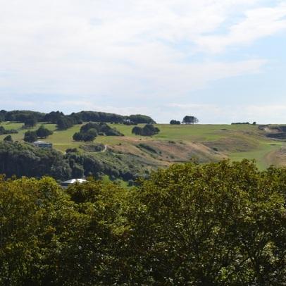 vue des jardins d'Etretat coté campagne