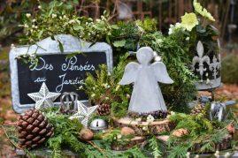 composition ange jardin