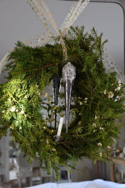 Couronne de Noel miroir