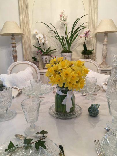 Bouquet de narcisses et lierre