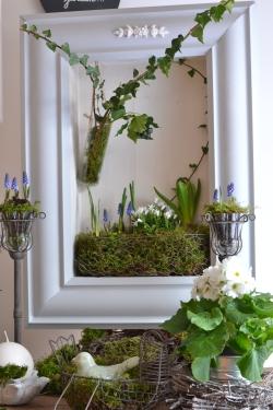 cadre végétal en portrait fleuri