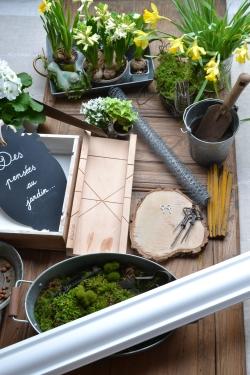matériel du tableau végétal