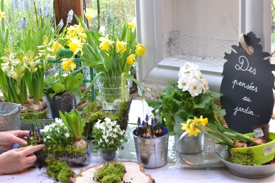 DIY végétal- disposition des fleurs