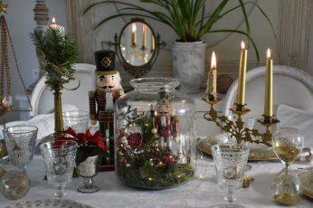 Reflet des bougies, table de fête