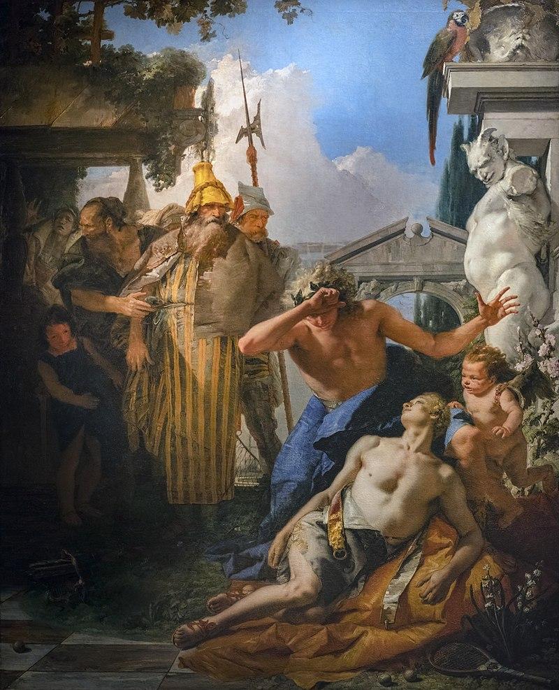 Mort de Hyacinthos, Tiepolo