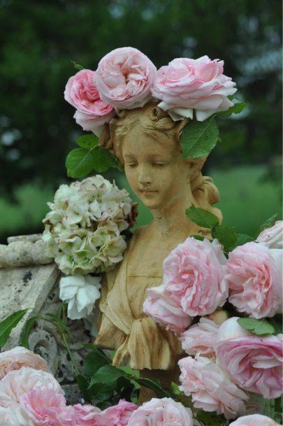 Profusion de roses autour de Flore