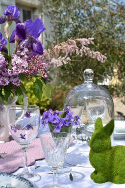 choche et violettes